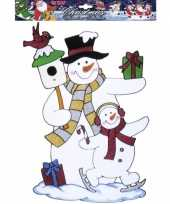 Kerst raamsticker sneeuwpop trend