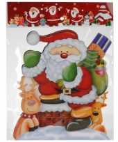Kerst raamstickers raamdecoratie 3d kerstman 25 x 34 cm trend 10110168
