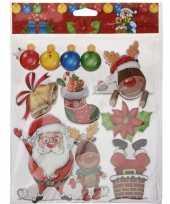 Kerst raamstickers raamdecoratie 3d type 2 29 x 36 cm trend