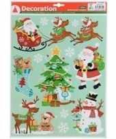 Kerst raamstickers raamdecoratie type 4 29 x 41 cm trend