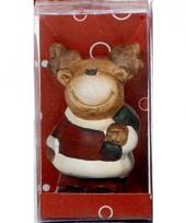 Kerst rendier decoratie met jasje 7 cm trend