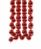 Kerst rode xxl kralenslinger kerstslinger 270 cm 2 stuks trend