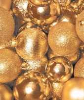 Kerst servetten gouden kerstballen trend