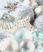 Kerst servetten kerstballen thema trend