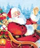 Kerst servetten kerstman thema trend