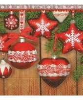 Kerst servetten met kerst ornamenten trend