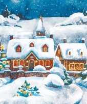 Kerst servetten sneeuw landschap thema trend
