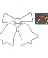 Kerst slangverlichting kerstklokken warm wit 60 cm trend