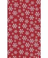 Kerst thema tafellaken tafelkleed rood wit 138 x 220 cm trend