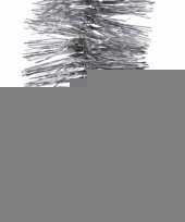 Kerst zilveren folieslinger christmas silver 270 cm trend