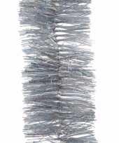 Kerst zilveren glitter folieslinger christmas silver 270 cm trend