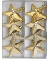 Kerstbal ster goud 6 5 cm trend