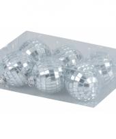 Kerstballen met spiegeltjes 5 cm trend