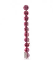 Kerstballen mix roze 10 stuks trend