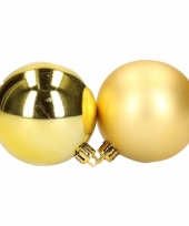 Kerstballen set goud 6 cm 12 stuks trend