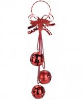 Kerstbellen decoratiehanger rood 50 cm trend