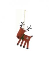 Kerstboom decoratie hert 12 cm trend