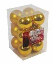 Kerstboom decoratie kerstballen goud 12x stuks 6 cm trend