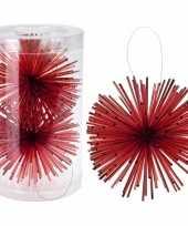 Kerstboom decoratie kerstbol classic red 11 cm trend