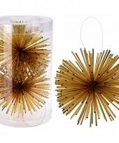 Kerstboom decoratie kerstbol goud 11 cm trend