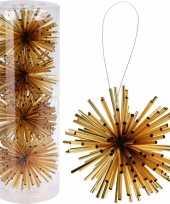 Kerstboom decoratie kerstbol goud 8 cm trend