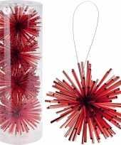 Kerstboom decoratie kerstbol rood 8 cm trend