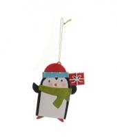 Kerstboom decoratie pinguin 12 cm trend
