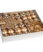 Kerstboom decoratie set 33 delig goud trend