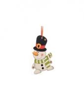 Kerstboom decoratie sneeuwpop 12 cm trend 10075033