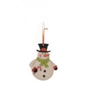 Kerstboom decoratie sneeuwpop 12 cm trend