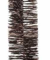Kerstboom folie slinger donkerbruin 270 cm trend