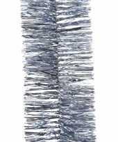 Kerstboom folie slinger ijsblauw 270 cm trend
