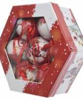 Kerstboom kerstman kerstballen cadeaubox 7 stuks 7 5 cm trend