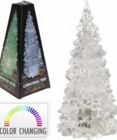 Kerstboom transparant met led licht 18 cm trend