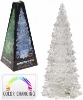 Kerstboom transparant met led licht 27 cm trend