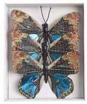 Kerstboom versiering vlinders blauw type 1 trend