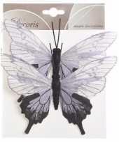 Kerstboom vlinders wit lila zwart type 2 trend