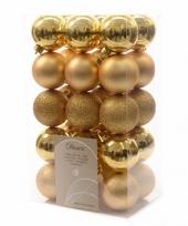 Kerstboomversiering gouden ballen 6 cm trend