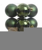 Kerstboomversiering groene ballen 6 cm trend