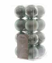 Kerstboomversiering mintgroene ballen 4 cm trend