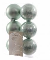 Kerstboomversiering mintgroene ballen 8 cm trend