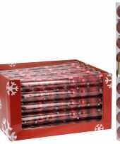 Kerstboomversiering rode ballen 9 stuks trend
