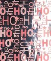 Kerstcadeau inpakpapier zilver roze 1 rol trend