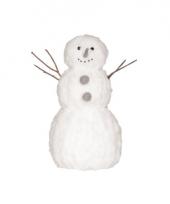 Kerstdecoratie sneeuwman 42 cm trend