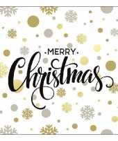 Kerstdiner servetten christmas dots 20 stuks trend