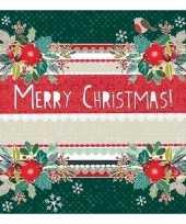 Kerstdiner servetten lovely christmas 20 stuks trend