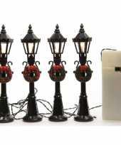 Kerstdorp lantaarns 4 stuks trend