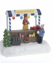 Kerstdorp maken verkoopstalletje met led licht trend