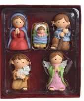 Kerstfiguren 5 polystone figuren trend