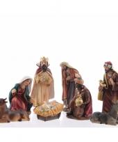 Kerstgroep 8x figuren van 12 cm trend
